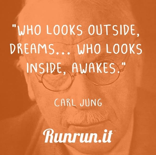"Inspirational quotes ""Who looks outside, dreams… who looks inside, awakes."" Carl Jung"